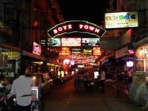 Boyz Town: Квартал для нетрадиционных развлечений в Паттайе