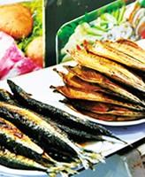 Жареная рыба в Pimatgol Jujeom Town