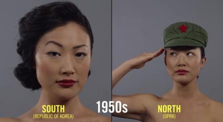 Разница в стандартах красоты женщин Северной и Южной Кореи за 100 лет