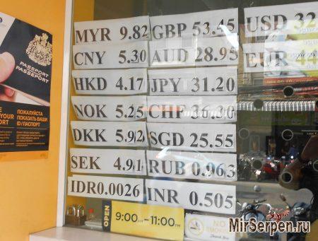 Предъявление документов в обменниках Таиланда