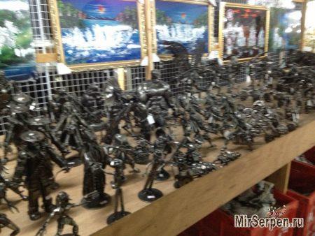 Шоппинг в Паттайе: Сувениры из железа в Лукдод