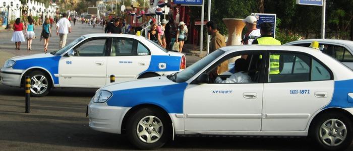 Такси — основной транспорт в Шарм-эш-Шейхе, Египет