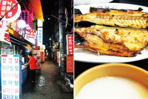 Макколи-бар Pimatgol Jujeom Town 피맛골 주점 타운