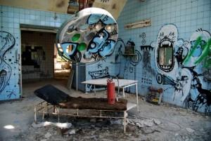 Заброшенный военный госпиталь Белиц-Хайльштеттен, Германия