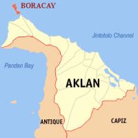 Карта острова Боракай, Провинция Аклан, Филиппины