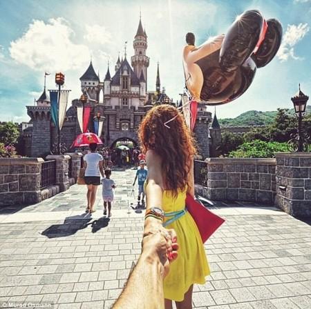 Я буду идти за тобой... Проект фотографа Murad Osmann
