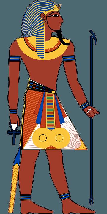 Фараон египта на рисунке