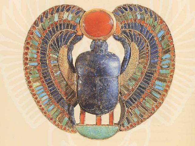 Жук-скарабей - египетский священный символ