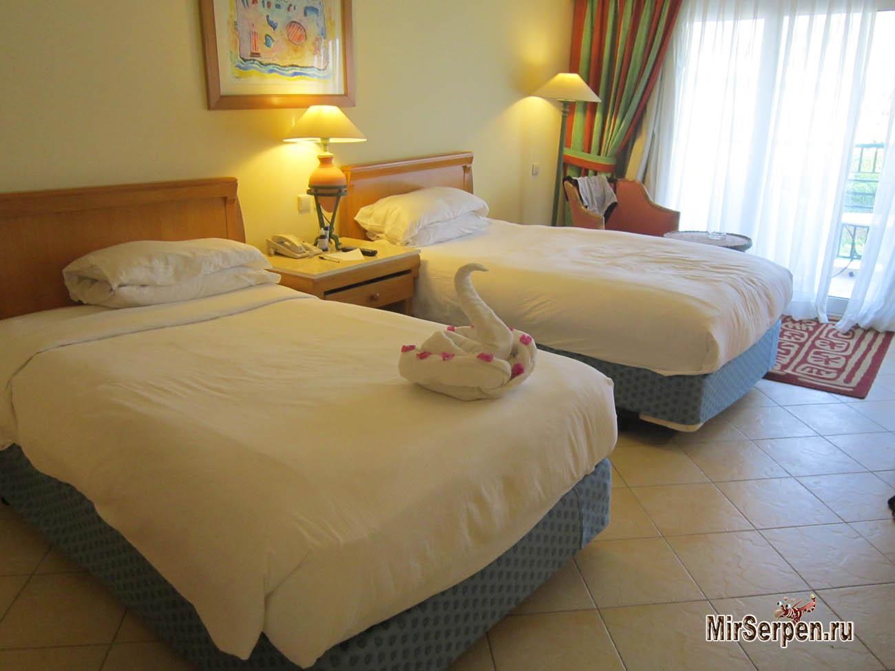 Описание номера standart room в отеле Hilton Sharm Waterfalls 5*, Шарм-эш-Шейх, Египет