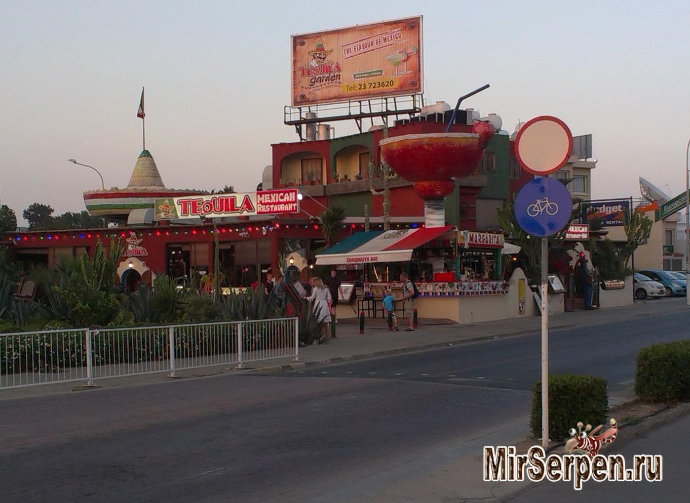 """Рестораны мексиканской кухни """"Tequila Mexican Garden"""", Айя-Напа, Кипр"""