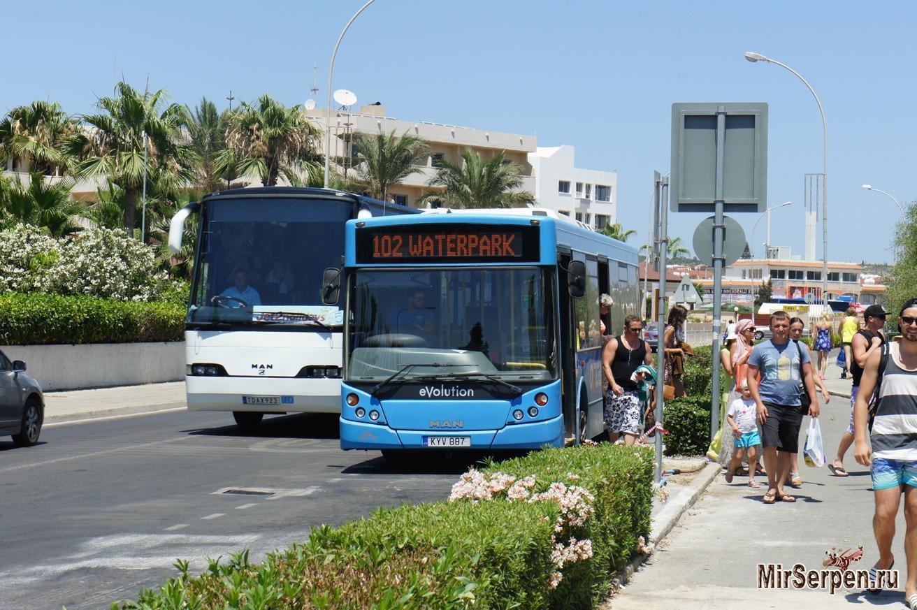 Общественный транспорт Айя-Напы, Кипр
