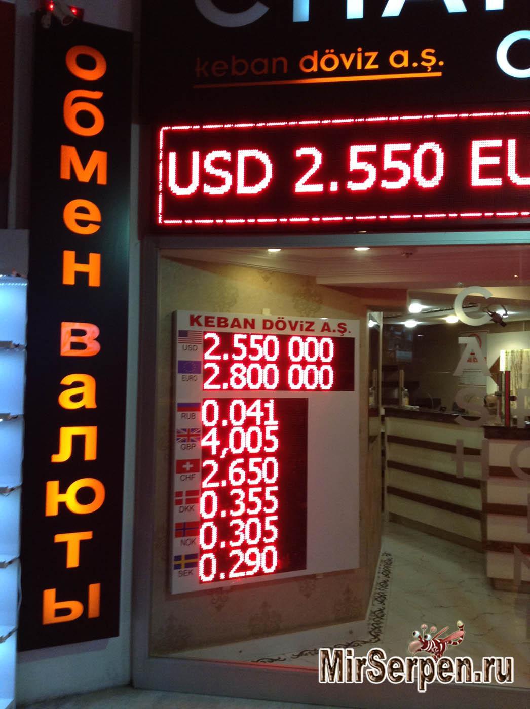С какими деньгами ехать в Турцию?