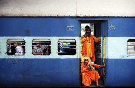 Путешествие на поезде в Индии