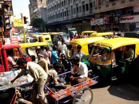 Дорожное движение в Индии