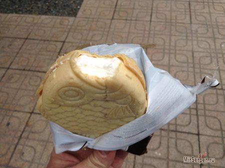 Корейское мороженое печенье