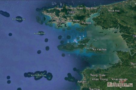 Карта Пхукета и ближайших островов