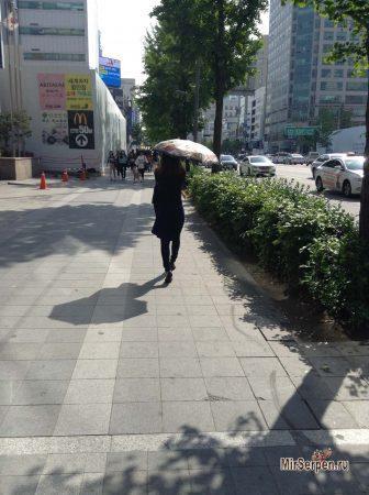 Правильное обращение с зонтиком в Южной Корее