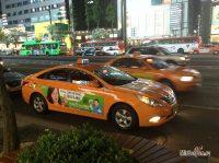 Таксисты Сеула на карте местности