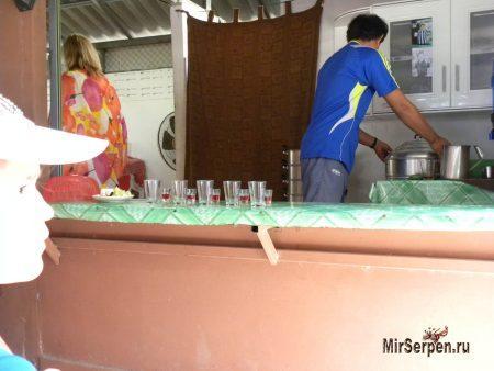 Выпить кровь змеи в Таиланде