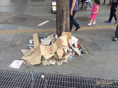 Про мусор на улицах Сеула