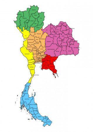 Про распространенность курения в разных регионах Таиланда